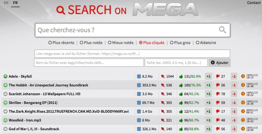 Search on Mega
